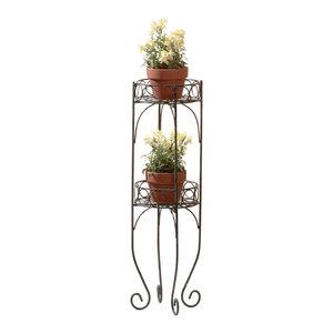 پایه گلدان مینی گل 2 تکه ، مناسب برای باغ گلدان های گل