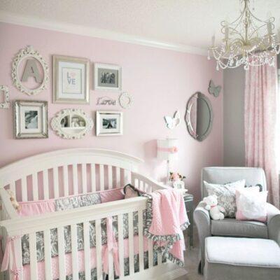 دکوراسیون اتاق خواب دخترانه نوزاد