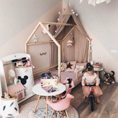 دکوراسیون اتاق خواب دخترانه کودک 1