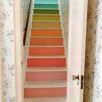 رنگ آمیزی پله رنگین کمان